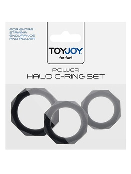 Set 3 cockring Power Halo ToyJoy Sextoys Cockring - Gaine de pénis Oh! Darling